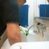 朝の掃除・洗面所