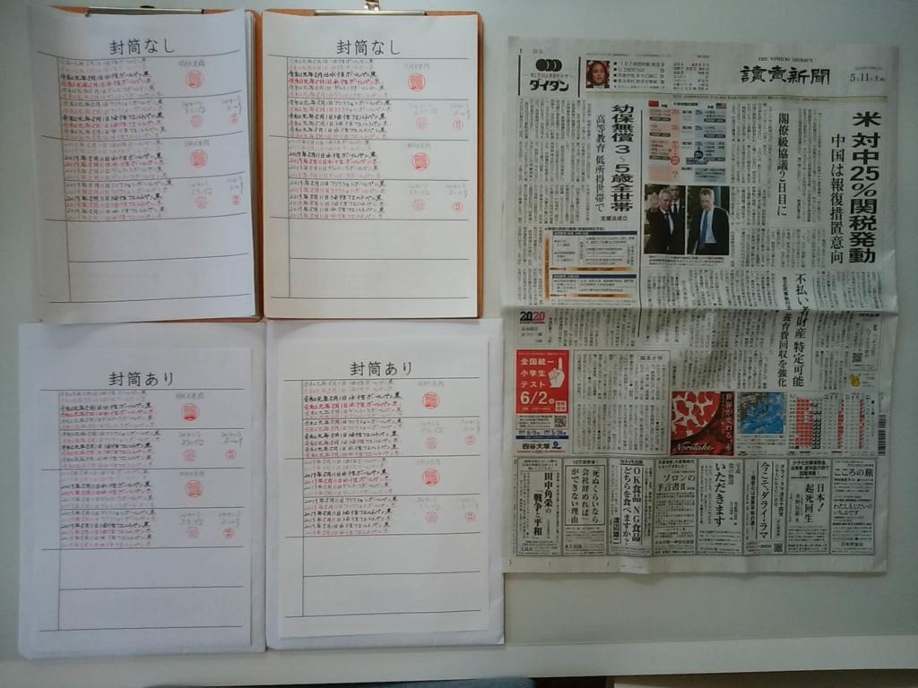 2019.5.11筆跡鑑定の研究用試料の作成