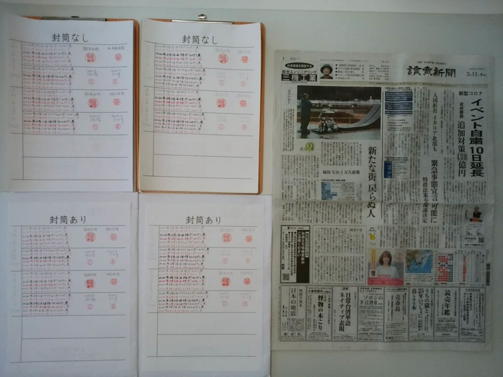 2020年3月11日 筆跡鑑定の研究用試料の作成