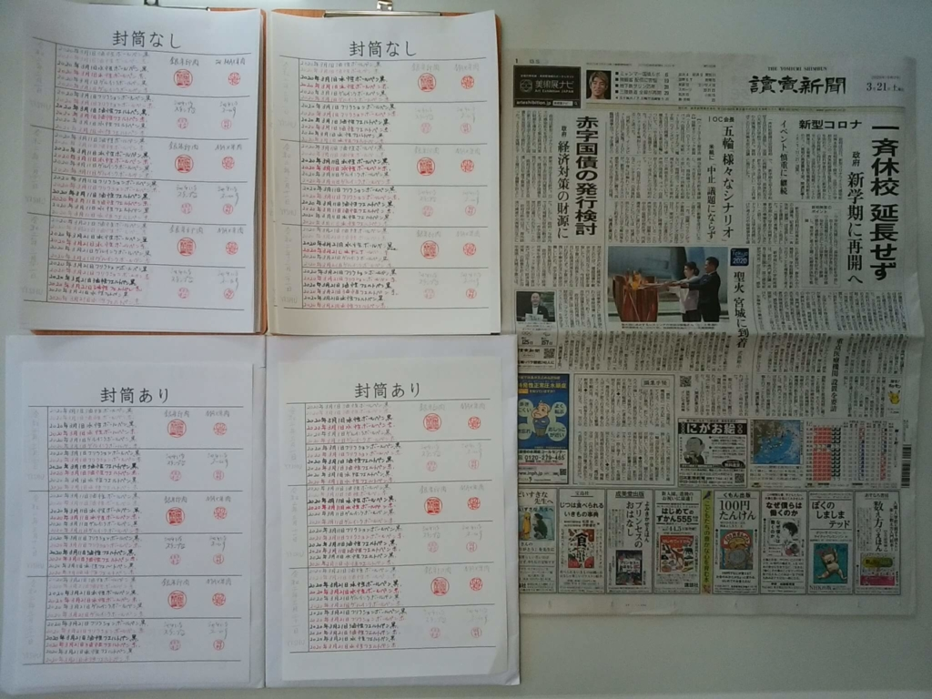 2020年3月21日筆跡鑑定の研究用試料の作成