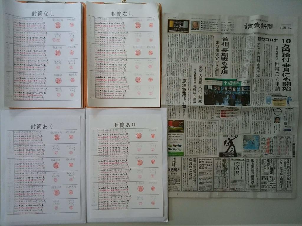 2020年4月21日:筆跡鑑定の研究用試料の作成
