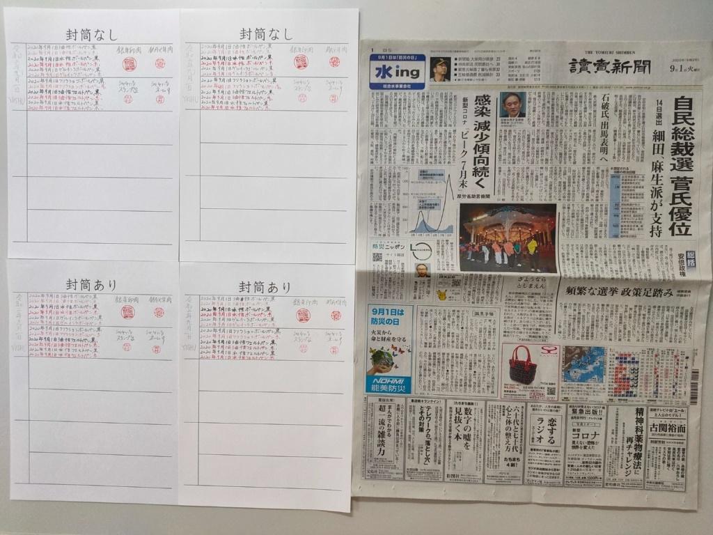 筆跡鑑定と印章鑑定の研究用試料の作成:2020年9月1日