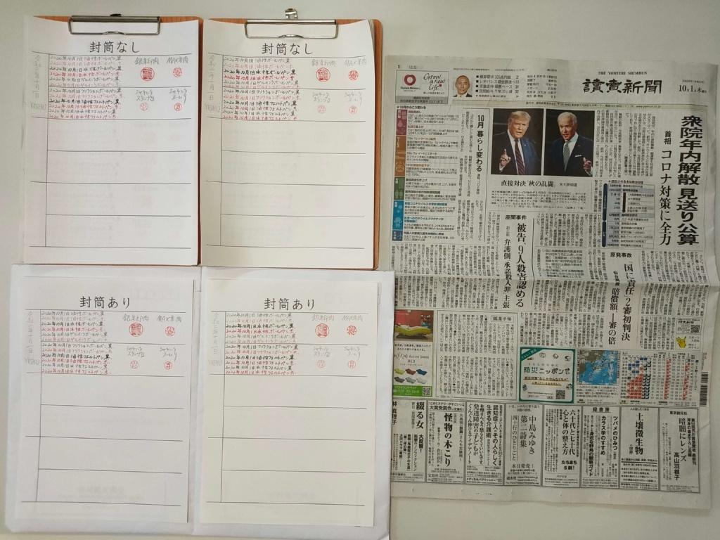 筆跡鑑定と印章鑑定の研究用試料の作成:2020年10月1日